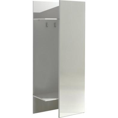 Porte manteau blanc moderne L.75 x l.40 x H.180 cm   collection Mager