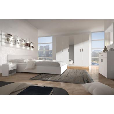 Chambre adulte complète blanc contemporain en panneaux de particules de haute qualité collection Henson