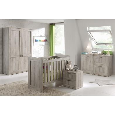 Chambre bébé complète beige moderne en   Panneaux mélaminés de haute qualité collection Buryasbridge