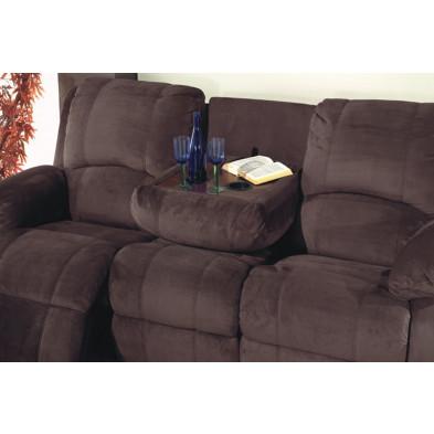 Canapé relax marron contemporain en tissu 2 places  L. 158 x P. 95 x H. 102 cm collection Rensje