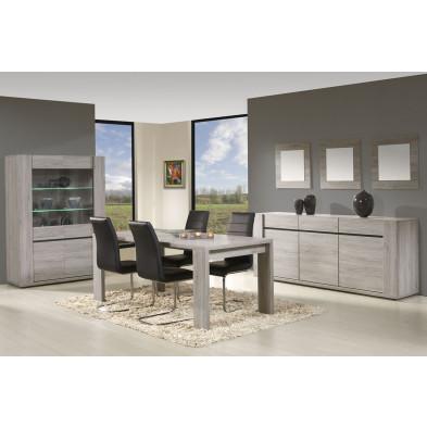 Ensemble salle à manger complète contemporaine gris en collection Vanhoute