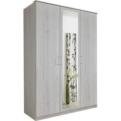 Armoire adulte blanc contemporain en panneaux de particules de haute qualité L. 135 x P. 58 x H. 199 cm collection Lever