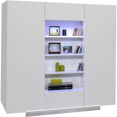 Rangement blanc design L. 170 x P. 55 x H. 169 cm collection Giddy