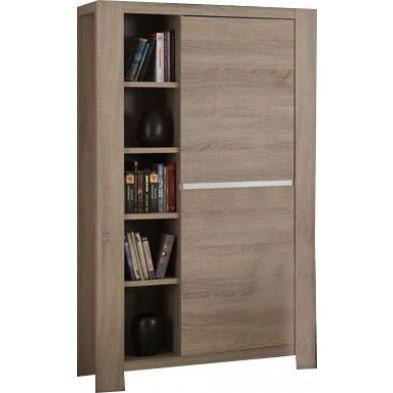 Argentier - meuble bar marron contemporain L. 106 x P. 49.5 x H. 184 cm collection Gamal