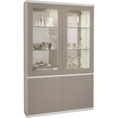 Vitrine blanc design en panneaux de particules de haute qualité L. 115 x P. 40 x H. 191 cm collection Traugott
