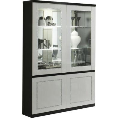 Vitrine noir design L. 115 x P. 40 x H. 191 cm collection Liedeke