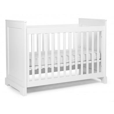 Lit à barreaux pour bébé moderne blanc en bois MDF et panneaux de particules de haute qualité 60x120cm Collection Ermenegildo