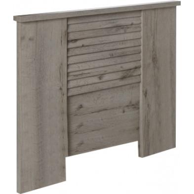 Tête de lit contemporaine gris en bois mdf et panneaux de particules mélaminés L. 100 x P. 5 x H. 86.3 cm Collection Stockingford