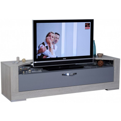 Meuble tv marron design L. 180 x P. 50 x H. 50 cm collection Breakfast
