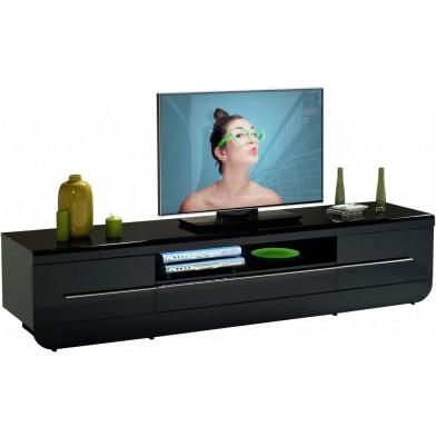 Meuble tv noir design L. 220 x P. 51 x H. 49 cm collection Schimmel