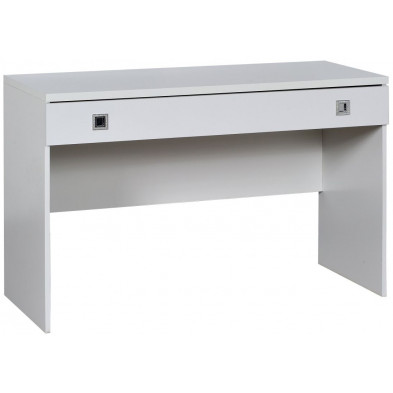 Bureau enfant blanc design L. 120 x P. 50 x H. 75 cm collection Halting