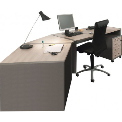 Bureau entreprise gris moderne en cm de largeur collection Therrien