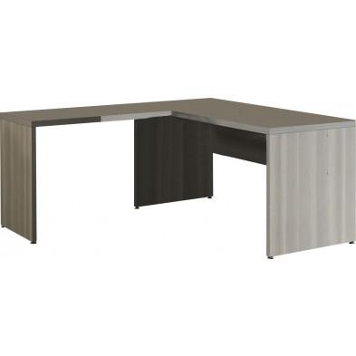 Bureau d'angle gris contemporain  L 160 cm x H 74 cm x P 80 cm collection Bioul