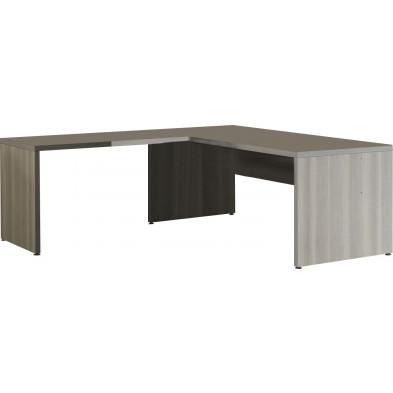 Bureau  gris contemporain L 200 cm x H 74 cm x P 80 cm  collection Bioul