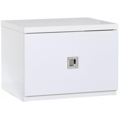 Chevet enfant blanc design L. 44 x P. 35 x H. 33 cm collection Halting