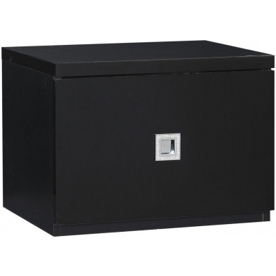 Chevet enfant noir design L. 44 x P. 35 x H. 33 cm collection Halting