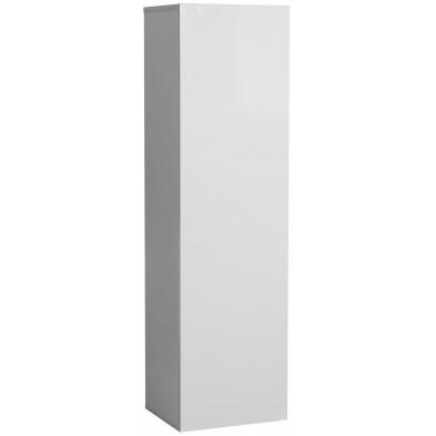 Meuble mural blanc design en panneaux de particules de haute qualité L. 35 x P. 30 x H. 125 cm collection Mcnally