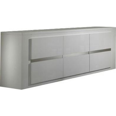 Buffet - bahut - enfilade blanc design L. 207 x P. 52 x H. 85 cm collection Portland