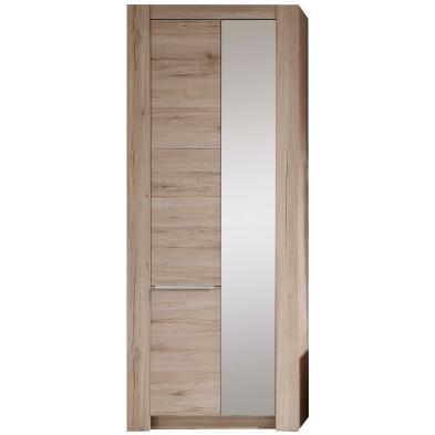 Armoire de rangement 2 portes coloris chêne San Remo  L. 76 x P. 37 x H. 190 cm collection Achirt