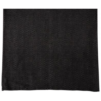 Nappe de table design gris en coton et polyester L. 150 x P. 45 x H. 0.01 cm Collection Cuddington