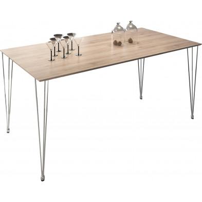 Table de salle à manger chêne clair moderne L. 180 x H. 75 cm Collection Cockermouth