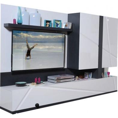 Ensemble meuble tv blanc design en cm de largeur collection Loof