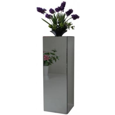 Table d'appoint design colonne en miroir anthracite L. 30 x P. 30 x H. 76 cm collection PALO