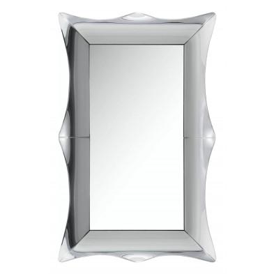 Miroir mural ultra design avec contour biseauté effet 3D L. 120 x P. 80 x H. 2 cm collection ALME