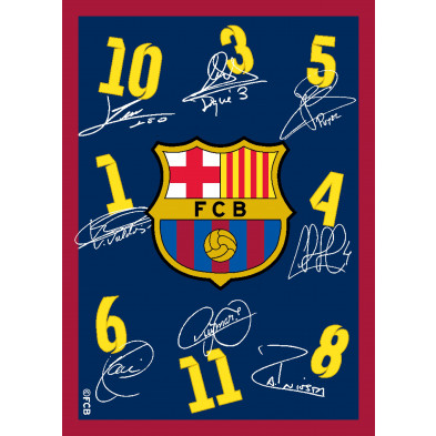 Tapis enfant 95x133cm design FC Barcelone collection Raziya