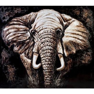 Tableau design en toile motif éléphant 150 cm collection Fortmyers