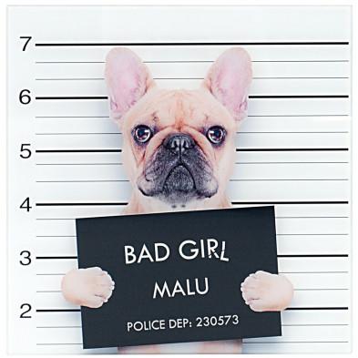 Tableau design magnifique bad girl L. 40 x H. 40 cm collection Llansoy