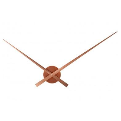 Horloge murale design en aluminium Ø 80 cm coloris cuivre collection Forbach