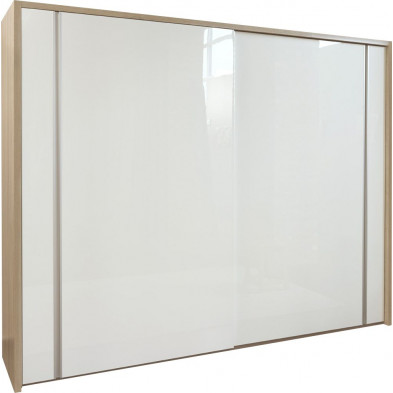 Chambre adulte blanc moderne L. 284 x P. 65.3 x H. 224 cm collection Youngstown