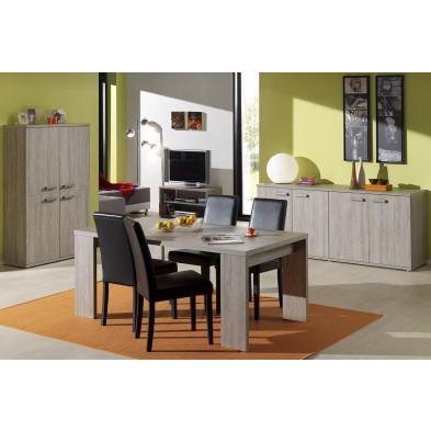 Salle à manger complète contemporaine marron moderne  collection Pontiac