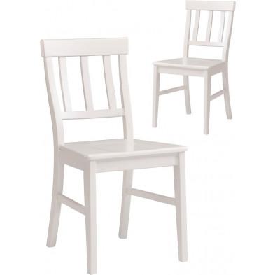 Chaise contemporaine blanche L. 43 x P. 50 x H. 90 cm Collection Athis