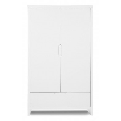 Armoire pour bébé design blanc en bois MDF L. 110 x P. 58 x H. 185 cm Collection Thomasburg