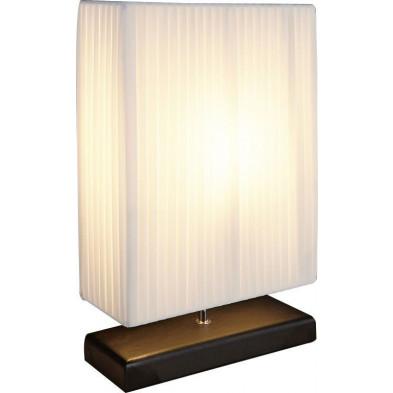 Lampe à poser design rectangulaire coloris blanc L. 30 x P. 12 x H. 49 cm collection Ekaterina
