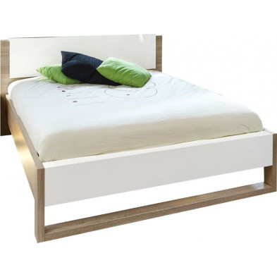 Lits blanc moderne L. 159.6 x P. 218.8 x H. 93.1 cm  collection Youngstown