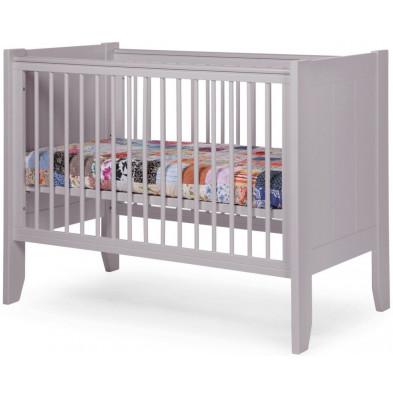 Lit bébé moderne gris en bois MDF et panneaux de particules de haute qualité 60x120 cm Collection Tiano