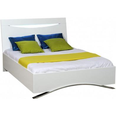 Lit 140x200 cm blanc design collection Lecluse