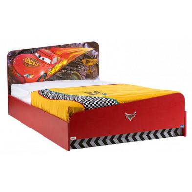 Lit voiture 120x200 cm rouge moderne collection Guimaraes