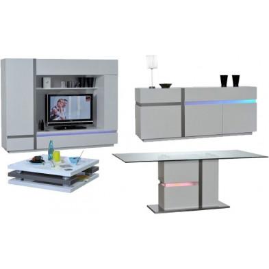 Ensemble meuble tv blanc design en cm de largeur collection Meulemans