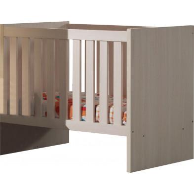 Lit bébé beige contemporain  L. 129 x P. 67 x H. 96 cm collection Ashriss