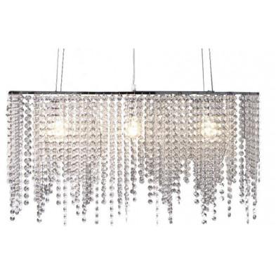 Lustre suspension strass en plastique  design L. 80 x P. 30 x H. 45 cm collection Kwakkenbos
