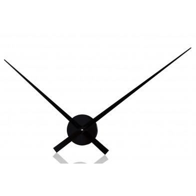 Horloge murale noire 80 cm à simples aiguilles collection Nysati