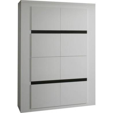 Argentier - meuble bar blanc design L. 120 x P. 47 x H. 172 cm collection Portland