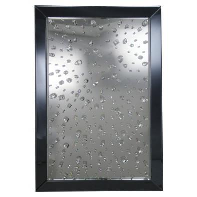 Miroir argenté design en bois mdf L. 80 x P. 5,8 x H. 120 cm Collection Brunsveld