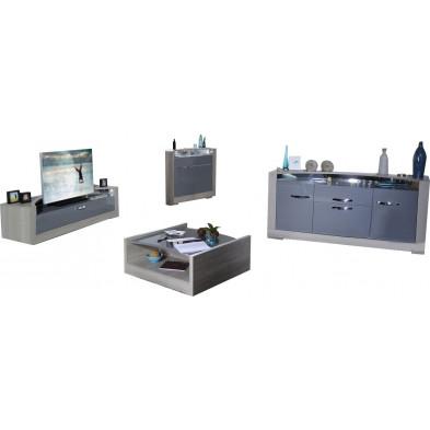 Ensemble meuble tv marron design en cm de largeur collection Breakfast