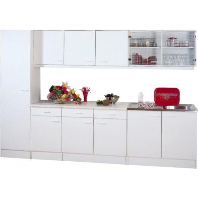 Packs complets blanc moderne en panneaux de particules de haute qualité  L. 300 x P. 50 x H. 200 cm collection Spijkstra