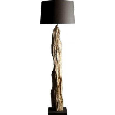 Lampadaire 175 cm design en bois flotté coloris noir collection Estnald